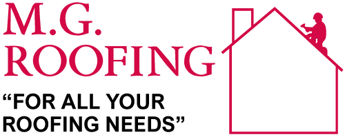 m.g roofing logo
